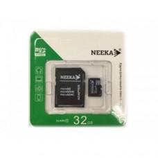 Карта micro SDHС 32G class10 (с адаптером) Neeka